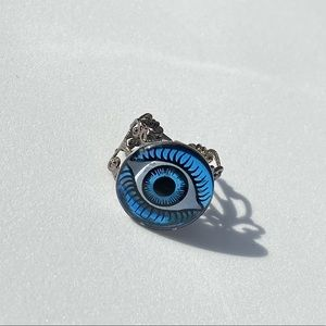 """Evil Eye"" handmade spooky costume ring"